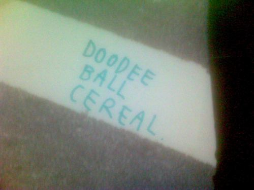 doodee ball cereal is my current favorite...